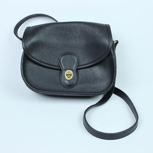 Vintage Coach Black Crossbody Handbag VGUC